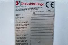 Chiller Industrial Frigo 300 kW - tabliczka znamionowa