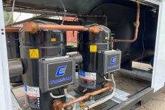 Chiller OPK 170 kW - podzespoły znajdujące się wewnątrz