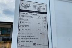 Chiller OPK 170 kW - tabliczka znamionowa