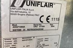 Chiller Uniflair 240 kW - tabliczka znamionowa