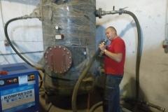 Pojemnik buforowy systemu chłodzenia wytłaczarek