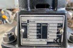 Pompa wody Grundfos CRNE5-16- tabliczka znamionowa