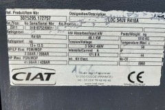 Serwis chiller Ciat LDC540V R410A - tabliczka znamionowa