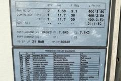 Serwis agregatu wody lodowej Trane CVGAM240 - tabliczka znamionowa