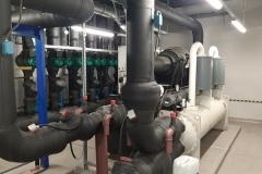 System chłodzenia z wykorzystaniem chiller Trane RTHD C2