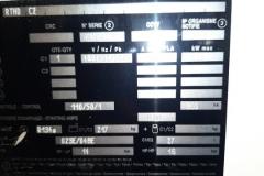 Tabliczka znamionowa chiller Trane RTHD C2