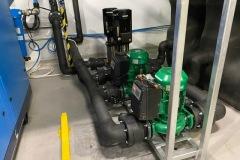 Budowa systemu wody lodowej z chiller Trane i dry cooler LUVE