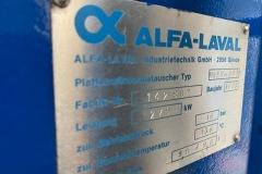 Wymiennik ciepła Alva-Laval 279 kW - tabliczka znamionowa