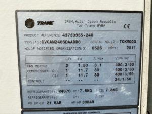 Serwis chiller Trane CVGAM240