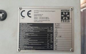Serwis agregatu wody lodowej HYFRA SVK 720/1
