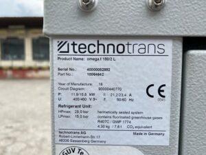 Tabliczka znamionowa chiller TechnoTrans Omega.t 1802L
